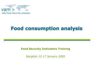 Food consumption analysis