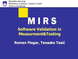 Software Validation in Measurment&Testing