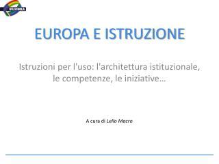 EUROPA E ISTRUZIONE