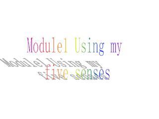 Module1 Using my  five senses