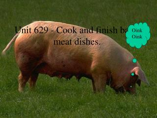 Unit 629 - Cook and finish basic meat dishes.