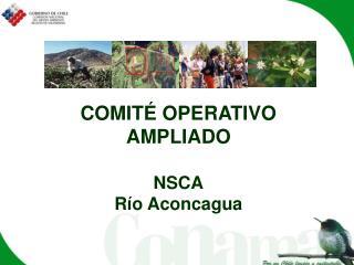 COMITÉ OPERATIVO AMPLIADO NSCA Río Aconcagua