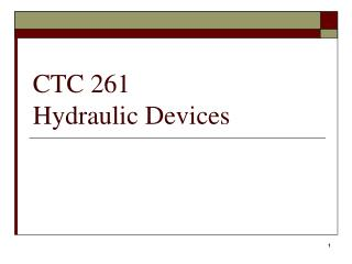 CTC 261  Hydraulic Devices