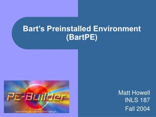 Bart's Preinstalled Environment (BartPE)