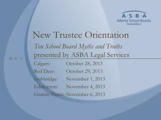 New Trustee Orientation