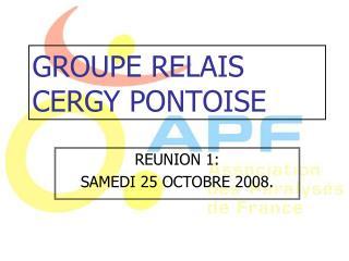 GROUPE RELAIS CERGY PONTOISE