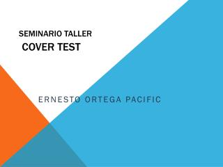 SEMINARIO TALLER COVER TEST
