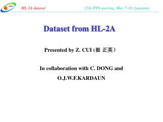 Dataset from HL-2A