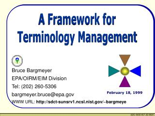 A Framework for Terminology Management