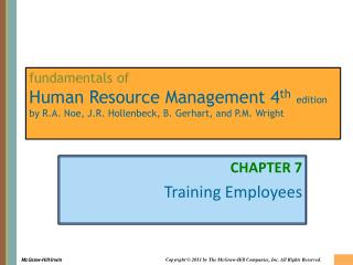 CHAPTER 7 Training Employees