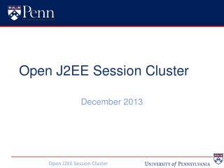Open J2EE Session Cluster
