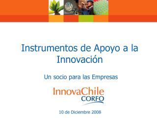 Instrumentos de Apoyo a la Innovación