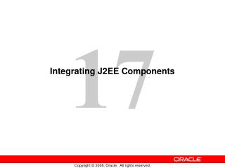 Integrating J2EE Components