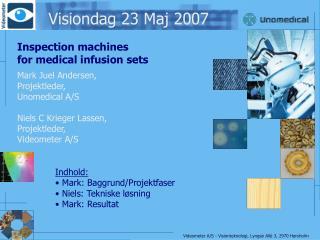 Visiondag 23 Maj 2007