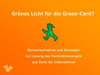 Grünes Licht für die Green-Card?