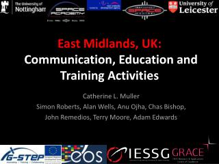 East Midlands, UK:  Communication, Education and Training Activities
