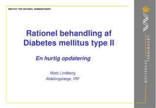 Rationel behandling af Diabetes mellitus type II