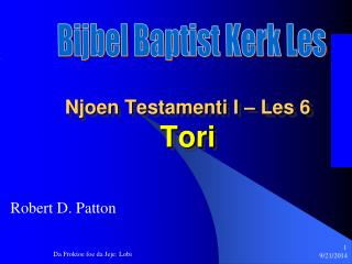 Njoen Testamenti I – Les 6 Tori