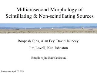 Milliarcsecond Morphology of Scintillating & Non-scintillating Sources