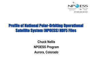 Profile of National Polar-Orbiting Operational Satellite System NPOESS HDF5 Files