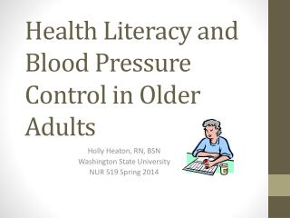 Health Literacy and Blood Pressure Control in Older Adults