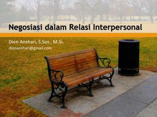 Negosiasi dalam Relasi  Interpersonal