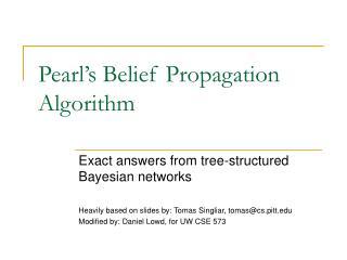 Pearl's Belief Propagation Algorithm