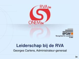 Leiderschap bij de RVA