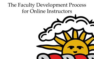 The Faculty Development Process f or Online Instructors