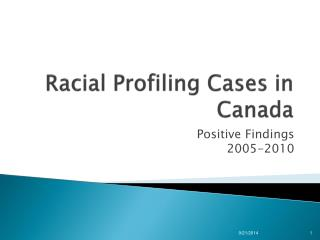 Racial Profiling Cases in Canada
