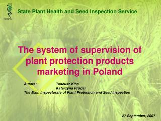 The system of supervision of plant protection products marketing in Poland
