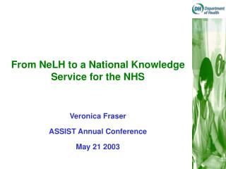 From NeLH to a National Knowledge Service for the NHS