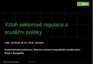 Vztah sektorov� regulace a sout?�n� politiky
