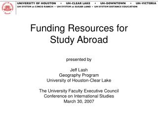 Funding Resources for  Study Abroad