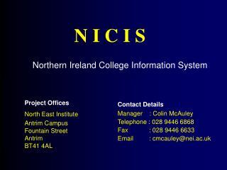 Northern Ireland College Information System