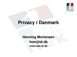 Privacy i Danmark
