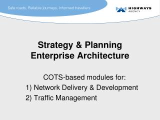 Strategy & Planning Enterprise Architecture