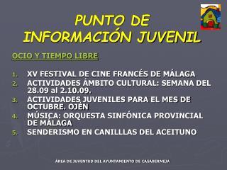 PUNTO DE INFORMACIÓN JUVENIL