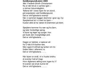 GuldborgsundLejren 2005 Mel: Frederik Brinth Christiansen