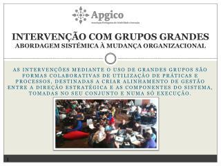 Intervenção com Grupos Grandes Abordagem Sistémica à Mudança Organizacional