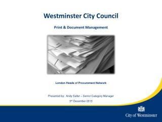 Westminster City Council Print & Document Management