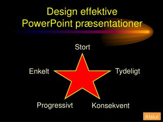Design effektive  PowerPoint pr�sentationer