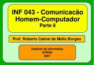 INF 043 - Comunicac�o Homem-Computador Parte 8