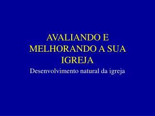 AVALIANDO E MELHORANDO A SUA IGREJA