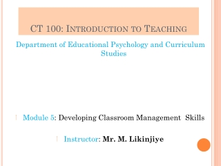 Classroom management refers to all of the things that a teacher does to organize students, space, time, and materials s