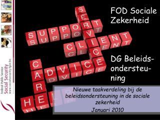 FOD Sociale Zekerheid DG Beleids- ondersteu-ning