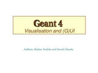 Visualisation and (G)UI