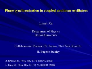 Phase synchronization in coupled nonlinear oscillators