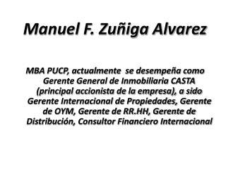 Manuel F. Zuñiga Alvarez