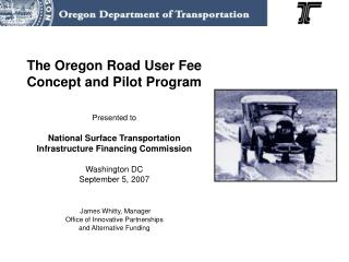 Road User Fee Task Force Legislative Mandate: